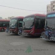 حمل دوچرخه با اتوبوس در تهران
